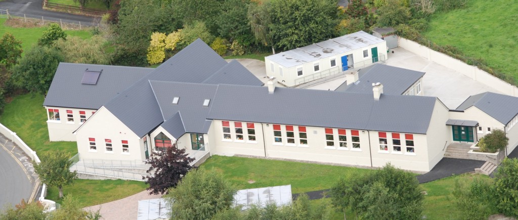 Meelick National School Aerial View